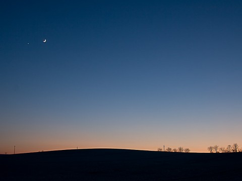 """…wenn Mond und Venus """"Gute Nacht"""" sagen"""
