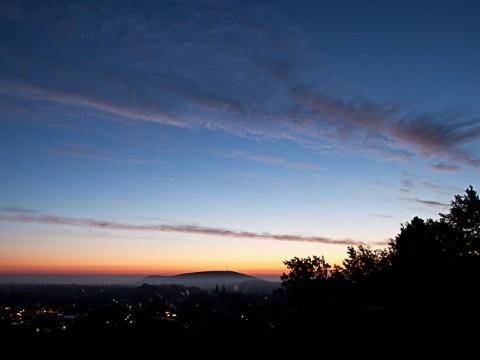 Sonnenaufgang über Goslar